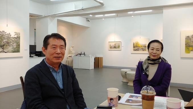 [이화순의 아트&컬처] 오용길, 한국화로 행복 전하는 봄의 전령사